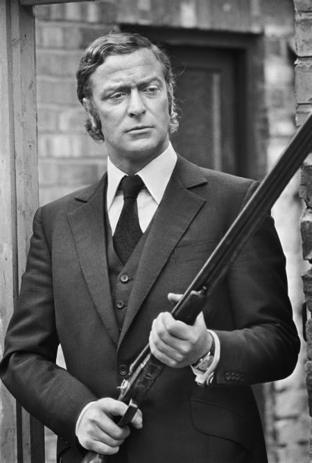 on the set of get carter